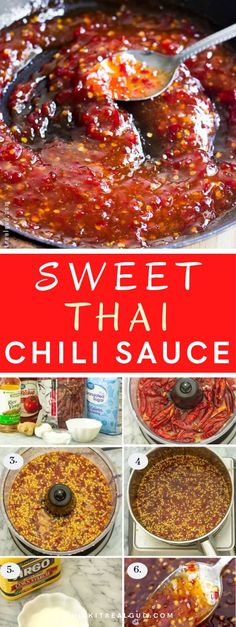 Sweet Chili sauce is super easy to make from scratch. This vibrant and tasty Thai sauce can be used in so many dishes like these sweet chili mayo shrimp lettuce wraps AND it tastes so much better than store brands SUPER easy to make! It's great on fried chicken too! #sweetchili #thaichili #chilisauce #sauce @whiskitrealgud | whiskitrealgud.com