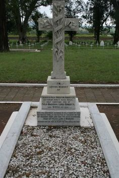 (Chieveley Military Cemetery, Frere, KwaZulu-Natal, South Africa). Grave of Lieut. Frederick Hugh Sherston Roberts VC (MID) (8.1.1872|17.12.1899). Educated Eton, Royal Military Academy, Sandhurst he joined the army after completing his studies. Saw action in Waziristan Exped (1894|5), Chitral Exped 1898 & Second Boer War. He was awarded the VC at The Battle of Colenso after his actions were observed by Redvers Buller VC, Commander-in-Chief & recommended for the award Dec 16th, before Roberts…