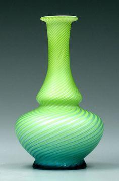 763: Pompeian swirl satin glass vase, : Lot 763