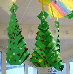Brico de Noël : sapins pliés