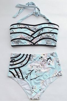 No wonder, floral shows the woman's nature, gentle beauty. Own it, Only $19.99! Update your swimsuit collection by adding this amazingly gorgeous Floral Halter Bikini Set. Feel the classic fashion wave.