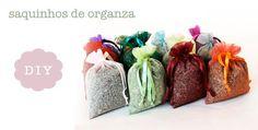 SAQUINHO-ORGANZA Nova, Diy, Lavender Sachets, Clean Cabinets, Cleanse Recipes, Household Cleaning Tips, Duster Coat, Paper Scraps, Sacks