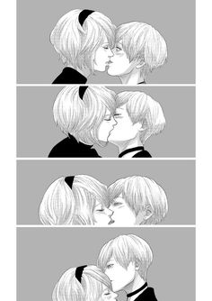 Cute kiss 2B and 9S
