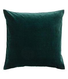 Velvet Cushion Cover   Dark green   H&M HOME   H&M US