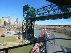 From Cleveland port to steel plant: How a freighter navigates the curvy Cuyahoga River Cleveland Skyline, Cleveland Rocks, Cleveland Metroparks, Coast Guard Stations, Great Lakes Ships, Tug Boats, Lake Erie, What Is Like, Tower Bridge