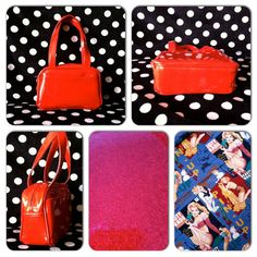 Red Glitter Vinyl Pin Up Purse by PipedreamsAndMascara on Etsy, $50.00