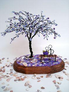 Blossom In Purple - Wedding Centerpiece, Anniversary, Engagement, Bridal Shower, Cake Topper, Valentine's gift on Etsy, $69.00