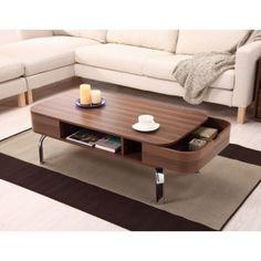 Walnut Coffee Tables on Hayneedle - Walnut Finish Coffee Table
