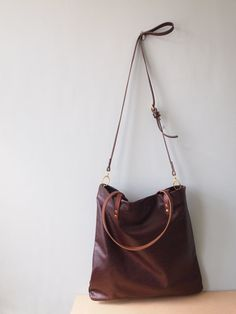 MULL Leather Tote and crossbody Bag - Rich Chestnut Brown by  Jeanie Deans on Etsy, Sold