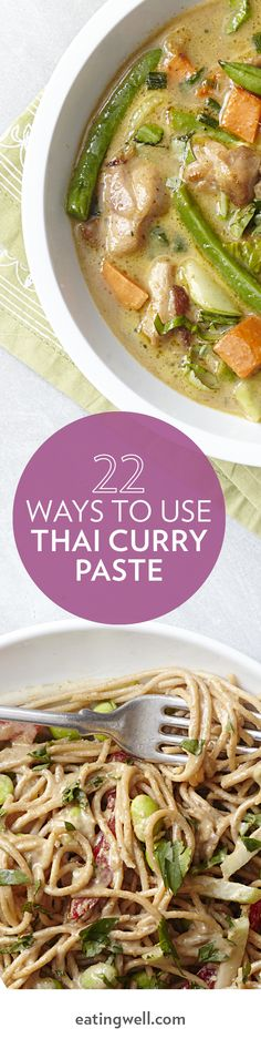 Discover dozens of ways to cook with Thai curry paste including stews, stir-fries, a pizza and more.