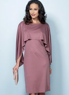 Butterick dress sewing pattern. B6479 Misses' Pullover Dresses with Attached Capelets