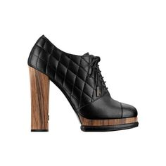 Glazed calfskin high boots with... - CHANEL found on Polyvore
