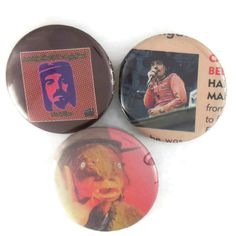 Captain Beefheart Pins Original Psych Rock Badges Trout Mask Replica Buttons by JeepsterVintage on Etsy