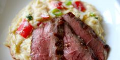Orzo with Steak, Horseradish and Cheddar