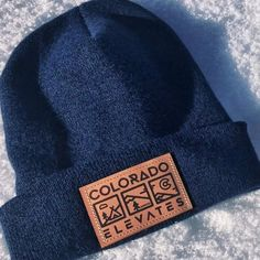 Colorado Elevates - Leather Patch Beanie