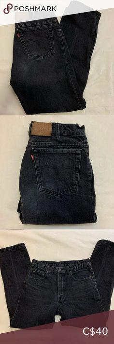 Vintage Levi's Black Black Levis, Black Denim Shorts, Plus Fashion, Fashion Tips, Fashion Trends, Vintage Levis, Colored Jeans, Cotton, How To Wear