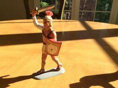 Marx Toy's Roman Warriors Hard Plastic Soldier Louis Marx Maximus | eBay