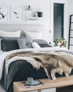 Stunning Scandinavian Bedroom decor with pleasing neutral colors like White and grey is so appealing and satisfying. and Garden Designs Room Ideas Bedroom inspo Bedroom Design Trends, Home Decor Bedroom, Home Bedroom, Modern Scandinavian Bedroom Design, Dream Bedroom, Small Bedroom, Scandinavian Design Bedroom, Remodel Bedroom, Mid Century Modern Bedroom
