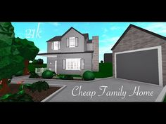 Cheap Family Home 21k Roblox Bloxburg Speed Build Inexpensive House Plans Building A House Cheap Family