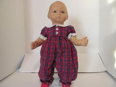 Bitty Baby Doll Clothes Plaid Romper by fashioned4you on Etsy