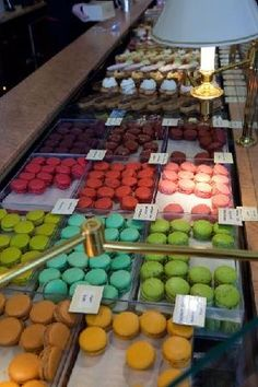 Macaroons from Carette, Place du Trocadero, Paris--my favorite place to eat in Paris.