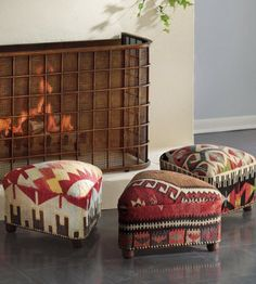 High Quality These Footstools Are Boldly Colorful With Dynamic Patterns And Are A  Perfect Addition To Any Living