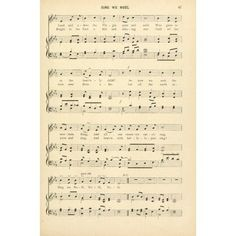 Sing we Noel Traditional Christmas Carols & Hymns 1910 Canvas Art - (18 x 24)
