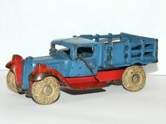Antique Cast Iron Toy Truck Original Collectible Metal Toys Forged Iron Toy