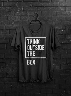 Think outside the box  Men T Shirt Colors: Yellow by radevsky