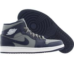 Air Jordan 1 I Retro Men (cool grey / midnight navy / white) 554724-006 - $104.99