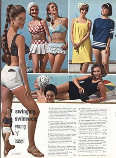 swimsuit on left.  Searched for it in red & white top/navy bottom.  Never found it in my size, but I've never forgotten the search.