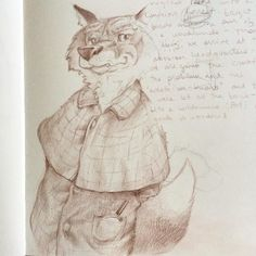 A #Sherlock #sketch for no particular reason. #wabisabi #pencil