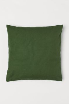 Canvas cushion cover - Dark green - Home All Cushion Covers, Pillow Covers, Condo Living Room, Living Rooms, New Interior Design, H & M Home, Pillow Room, My Canvas, White Houses