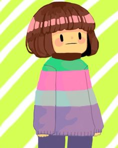 *The strange merge between Frisk and Chara that somehow became a meme fills you with DISCOMFORT.