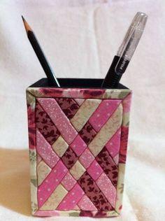 Porta lápiz en patchwork sin aguja