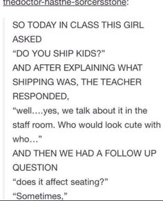 My class needs to ask this!
