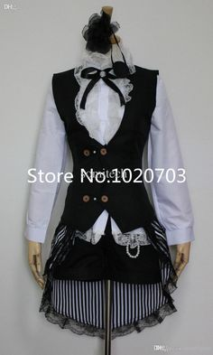 Wholesale Black Butler Ciel Phantomhive Dress Cosplay Costume Girl Anime Costumes Cosplay Costumes For Sale Cheap From Caimingwei, $91.89| Dhgate.Com
