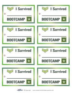 Whether you're using our free printable favor bags, favor boxes or your own treat-bags, it would be really nice if you tied these army favor tags to y...
