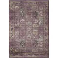 Stylishly anchor your living room or master suite with this artfully crafted rug, showcasing a weathered patchwork print for boho appeal.
