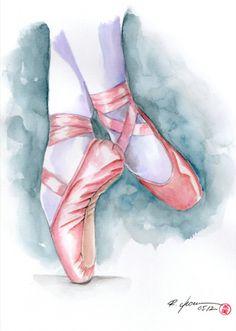 Ballet by rchaem on DeviantArt - Malerei Ballet Painting, Dance Paintings, Ballet Art, Painting Art, Paintings Tumblr, Ballet Dancers, Ballet Drawings, Dancing Drawings, Ballet Shoes Drawing