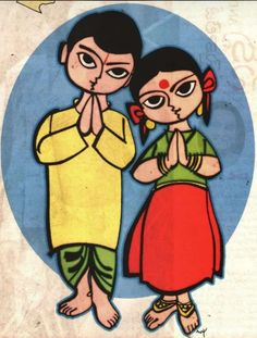 Children Painting On Canvas Kid Art 24 Best Ideas Oil Pastel Paintings, Dance Paintings, Indian Art Paintings, Madhubani Art, Madhubani Painting, Art Drawings For Kids, Art For Kids, Traditional Paintings, Traditional Art