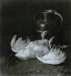 Still Life With Poultry, 1885 Emil Carlsen [1848-1932] oil on canvas 30 x 28-1/2 inches | 30 x 29 inches Signed: At lower left. 'Emil. Carlsen. 1885.'. Archives of American Art #: 95960130, 9596016...