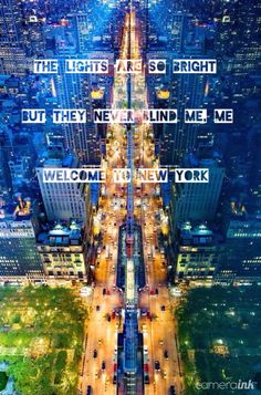 Iconic New York, beautiful skyline + Taylor Swift lyrics!