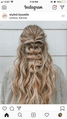 Dance Hairstyles, Homecoming Hairstyles, Curled Hairstyles, Pretty Hairstyles, Pretty Braids, Hair Heaven, Edgy Hair, Braids For Long Hair, Hair Inspiration