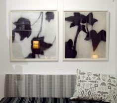 Artwork by Jari Huhta, fabric by Johanna Gullichsen and pillow by Sanna ja Olli @ GLOW Helsinki, Upholstery, Glow, Pillows, Frame, Fabric, Artwork, Home Decor, Picture Frame