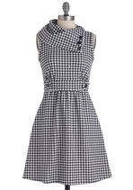 Love This for the Fall!!!   Coach Tour Dress in Houndstooth | Mod Retro Vintage Dresses | ModCloth.com
