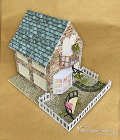 Well not quite, but I have used the Toy Emporium die set from the brand new Tudor Town die sets by Tonic Studios to make a house. Tudor House, Putz Houses, Glitter Houses, Christmas Villages, Rhodes, Cottages, Claire, Conversation, Sewing Crafts