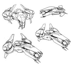 WEBSTA @ sparth - Initial sketches done for the halo 5 Phaeton