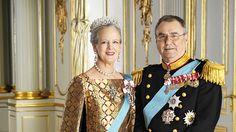 Małgorzata II - królowa Danii i książę-małżonek Henri de Laborde de Monpezat