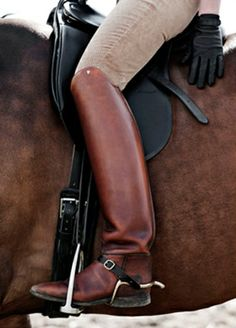 I don't own a horse and probably never will but these are some good looking riding boots!